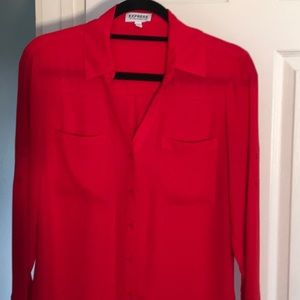 "Express ""The Portofino Shirt"" Red size M"